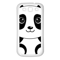 Bear Panda Bear Panda Animals Samsung Galaxy S3 Back Case (white)