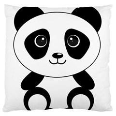 Bear Panda Bear Panda Animals Standard Flano Cushion Case (two Sides)