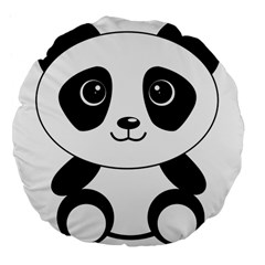 Bear Panda Bear Panda Animals Large 18  Premium Flano Round Cushions