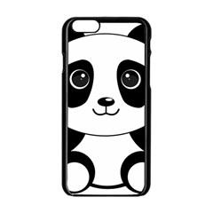 Bear Panda Bear Panda Animals Apple Iphone 6/6s Black Enamel Case