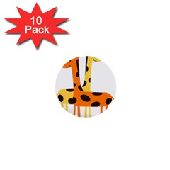 Giraffe Africa Safari Wildlife 1  Mini Buttons (10 Pack)