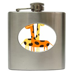 Giraffe Africa Safari Wildlife Hip Flask (6 Oz)