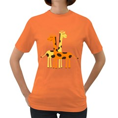 Giraffe Africa Safari Wildlife Women s Dark T Shirt