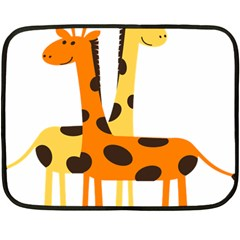Giraffe Africa Safari Wildlife Double Sided Fleece Blanket (mini)