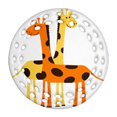 Giraffe Africa Safari Wildlife Ornament (round Filigree)