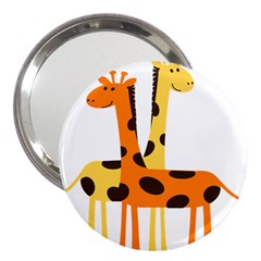 Giraffe Africa Safari Wildlife 3  Handbag Mirrors