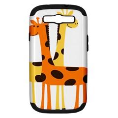 Giraffe Africa Safari Wildlife Samsung Galaxy S Iii Hardshell Case (pc+silicone)