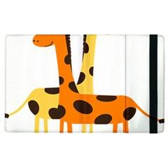 Giraffe Africa Safari Wildlife Apple Ipad 3/4 Flip Case
