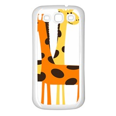 Giraffe Africa Safari Wildlife Samsung Galaxy S3 Back Case (white)