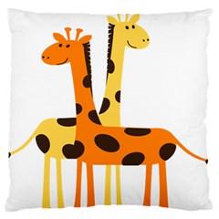 Giraffe Africa Safari Wildlife Standard Flano Cushion Case (one Side)