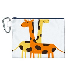 Giraffe Africa Safari Wildlife Canvas Cosmetic Bag (l)