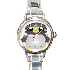 Cute Penguin Animal Round Italian Charm Watch