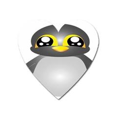 Cute Penguin Animal Heart Magnet