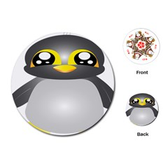 Cute Penguin Animal Playing Cards (round)