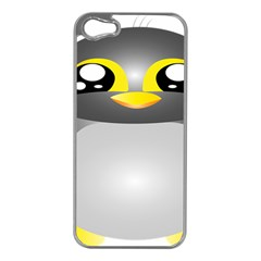 Cute Penguin Animal Apple Iphone 5 Case (silver)