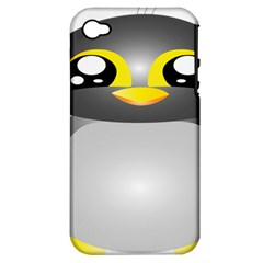 Cute Penguin Animal Apple Iphone 4/4s Hardshell Case (pc+silicone)
