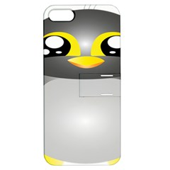 Cute Penguin Animal Apple Iphone 5 Hardshell Case With Stand