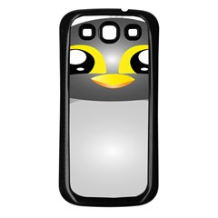 Cute Penguin Animal Samsung Galaxy S3 Back Case (black)
