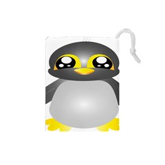 Cute Penguin Animal Drawstring Pouches (small)
