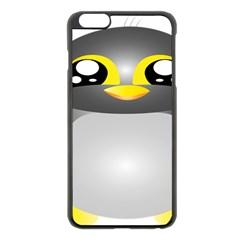 Cute Penguin Animal Apple Iphone 6 Plus/6s Plus Black Enamel Case