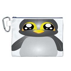 Cute Penguin Animal Canvas Cosmetic Bag (l)