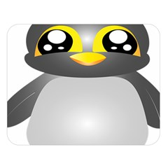 Cute Penguin Animal Double Sided Flano Blanket (large)