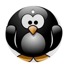 Penguin Birds Aquatic Flightless Ornament (round)