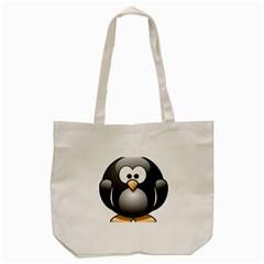 Penguin Birds Aquatic Flightless Tote Bag (cream)