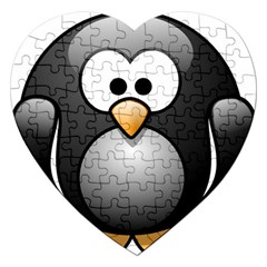 Penguin Birds Aquatic Flightless Jigsaw Puzzle (heart)