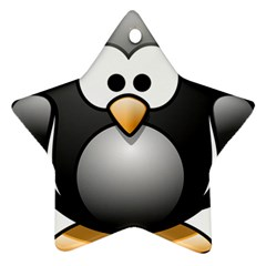 Penguin Birds Aquatic Flightless Star Ornament (two Sides)