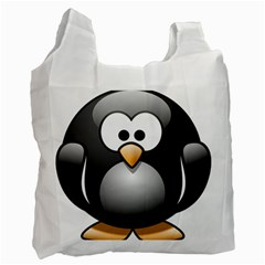 Penguin Birds Aquatic Flightless Recycle Bag (two Side)
