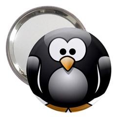 Penguin Birds Aquatic Flightless 3  Handbag Mirrors