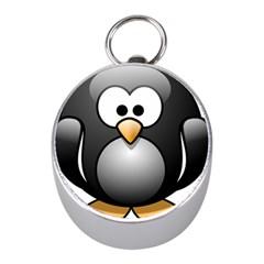 Penguin Birds Aquatic Flightless Mini Silver Compasses