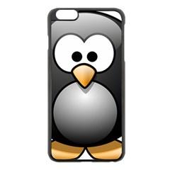 Penguin Birds Aquatic Flightless Apple Iphone 6 Plus/6s Plus Black Enamel Case