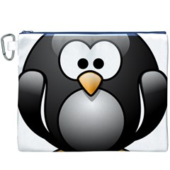 Penguin Birds Aquatic Flightless Canvas Cosmetic Bag (xxxl)