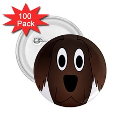 Dog Pup Animal Canine Brown Pet 2 25  Buttons (100 Pack)