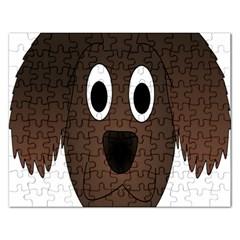 Dog Pup Animal Canine Brown Pet Rectangular Jigsaw Puzzl