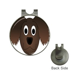 Dog Pup Animal Canine Brown Pet Hat Clips With Golf Markers