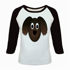 Dog Pup Animal Canine Brown Pet Kids Baseball Jerseys