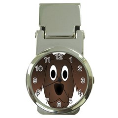 Dog Pup Animal Canine Brown Pet Money Clip Watches