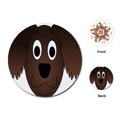 Dog Pup Animal Canine Brown Pet Playing Cards (round)