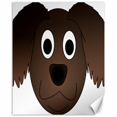 Dog Pup Animal Canine Brown Pet Canvas 16  X 20