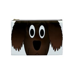 Dog Pup Animal Canine Brown Pet Cosmetic Bag (medium)