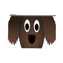 Dog Pup Animal Canine Brown Pet Cosmetic Bag (large)