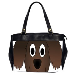 Dog Pup Animal Canine Brown Pet Office Handbags (2 Sides)