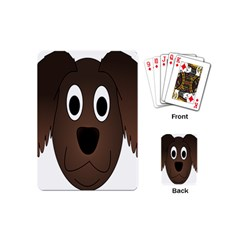 Dog Pup Animal Canine Brown Pet Playing Cards (mini)