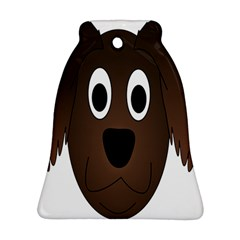 Dog Pup Animal Canine Brown Pet Ornament (bell)