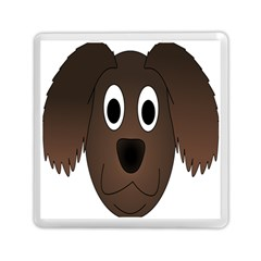 Dog Pup Animal Canine Brown Pet Memory Card Reader (square)