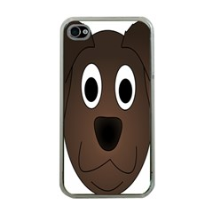 Dog Pup Animal Canine Brown Pet Apple Iphone 4 Case (clear)