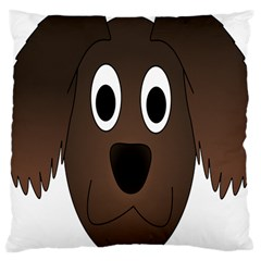 Dog Pup Animal Canine Brown Pet Large Cushion Case (two Sides)